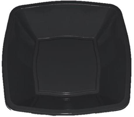 Mashers Square Bowls BLACK 7'' Plastic 24 X 10