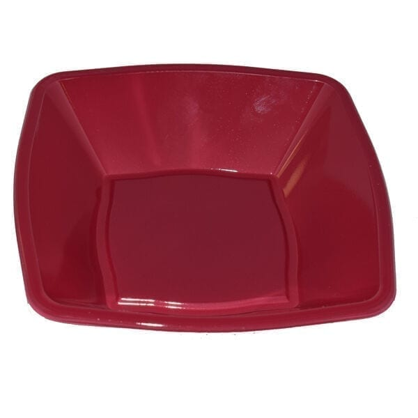 Mashers Square bowls BURGUNDY 7''  Plastic X 240
