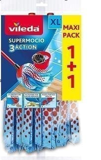 SuperMocio Mop Heads Refill Twin Pack