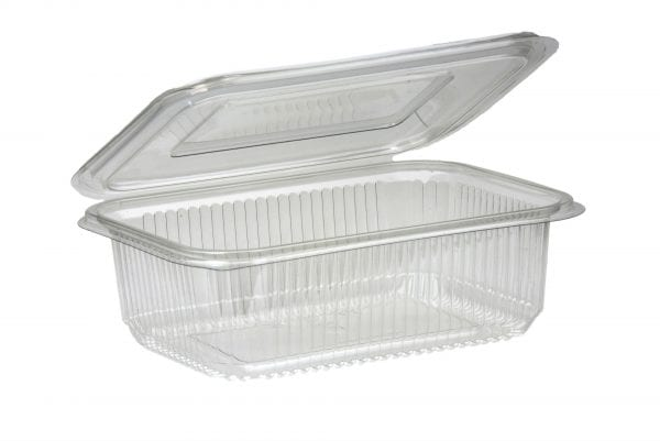 Salad Hinged Containers Plastic  375CC X 500