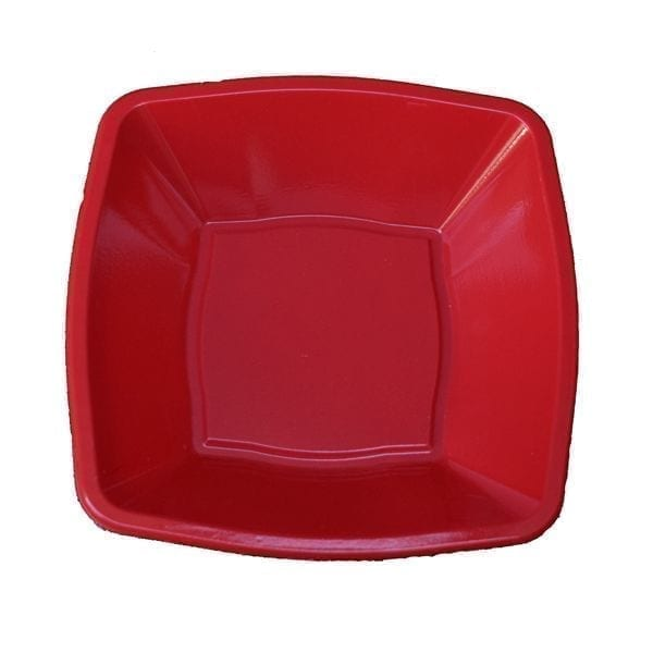 Mashers Square Bowls RED 4'' Plastic 24 X 10