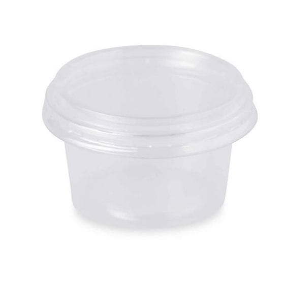 Container Clear Round 6 Compartment  Plastic 10''  64OZ