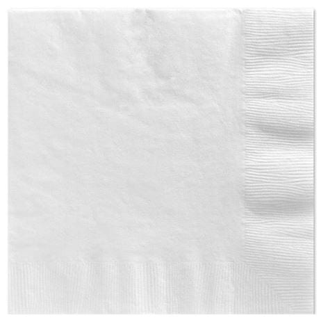 BRIGHT WHITE Lunch Napkins X 20