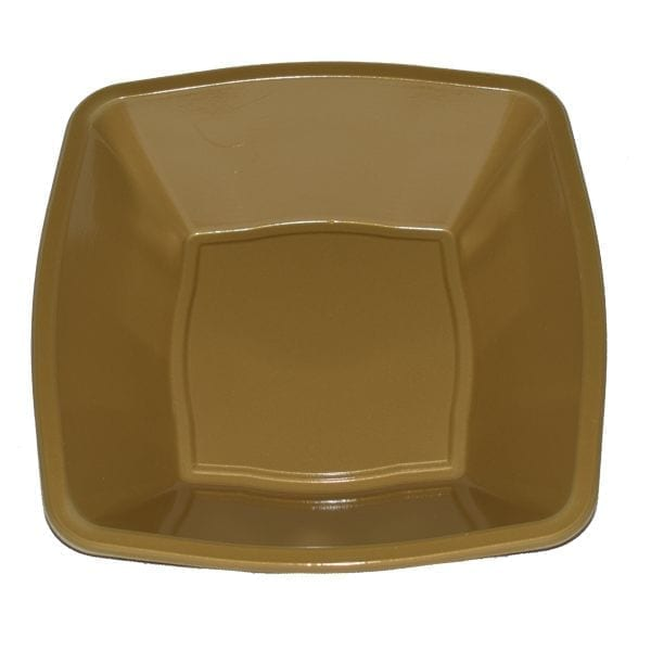 Mashers Square Bowls GOLD 7'' Plastic X 240