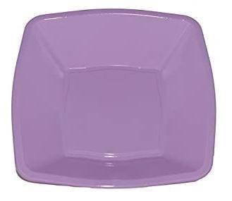 Mashers Square bowls LILAC 7''  Plastic X 240