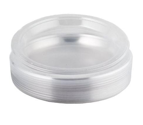 Splendid Dining Plastic Plates Clear 9'' 12 X 40