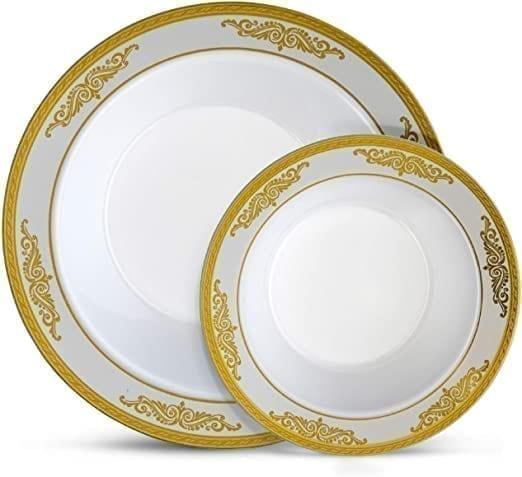Soup Bowls WHITE/GOLD 5OZ X 10