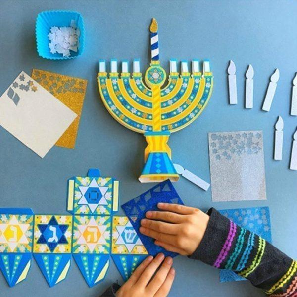 Chanukah Glitter Art 7X6''