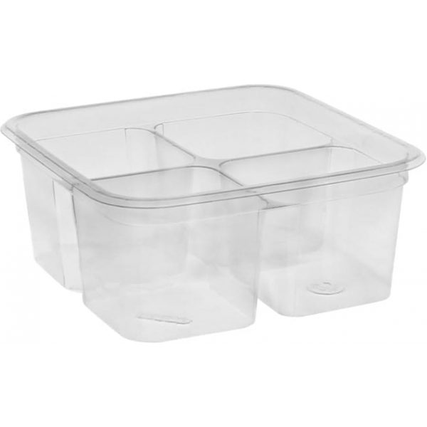 Plastic Container Go Cubes Clear 32OZ X 300