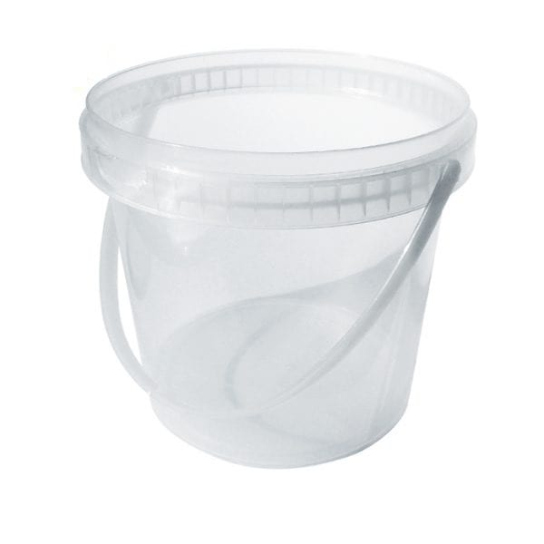 1.5 ltr round clear tubs ( 189 EACH IN A BOX)