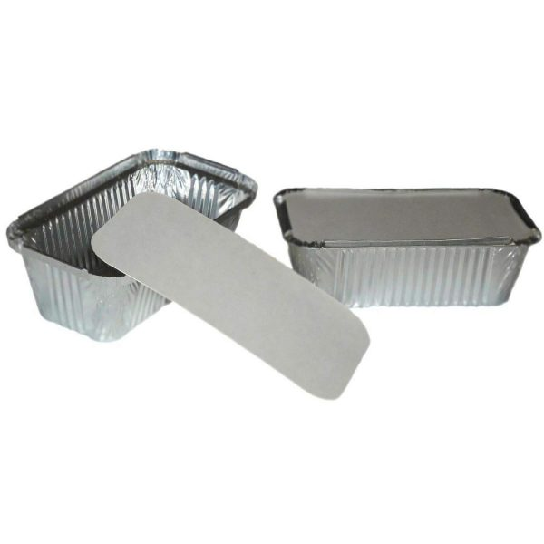 Lids Packed For Aluminium Containers Paper  2Ltr X 10