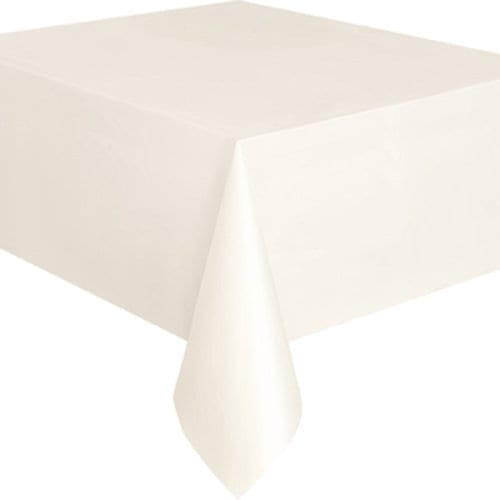 Everyday Tablecloth Disposable Plastic 54X72''  X 8