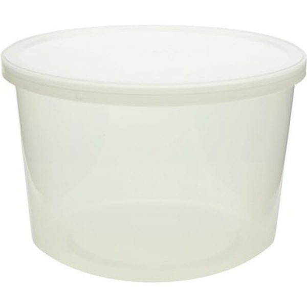 Containers Round Packed Clear Plastic 64OZ 3 X 10