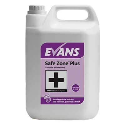 Evans Safe Zone Plus Virucidal Disinfectant 5LTR