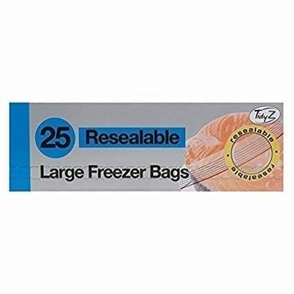 Large Freezer Bags Reusable 25S X 25