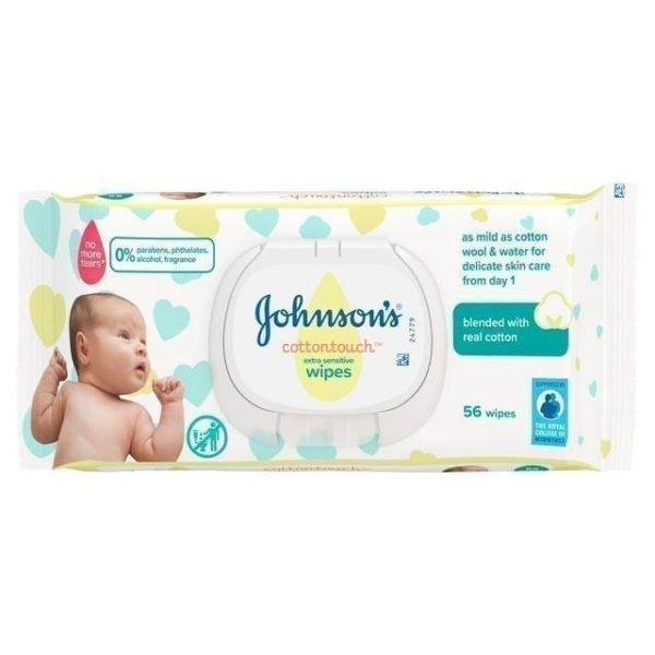 J&J Baby Wipes Extra Sensitive 56's X 12
