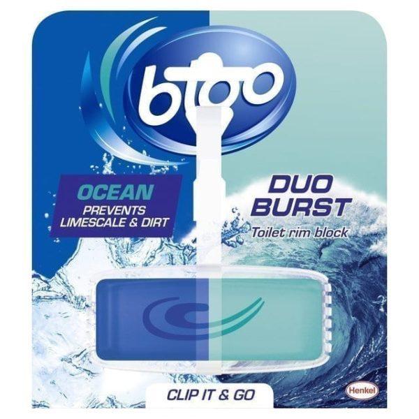 Bloo Duo Burst Toilet Rimblock Ocean X 10