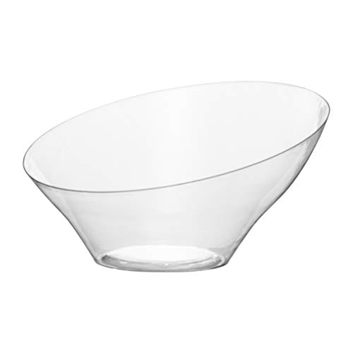 Angled Serving Bowl CLEAR Plastic Small 3742
