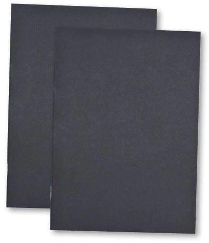 Card Cover Sketch Book BLACK A4  X 5