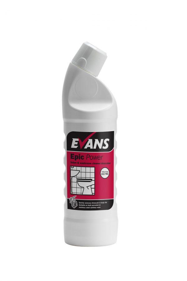 Evans Epic Power Toilet and Washroom Cleaner Descaler 1LTR X 6