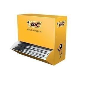 Bic Cristal Clear Barrel Ballpoint BLACK 1.0MM Tip 0.4MM Line X 100