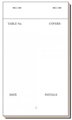 Waitress Triplicate Pads 3x6''  X 100