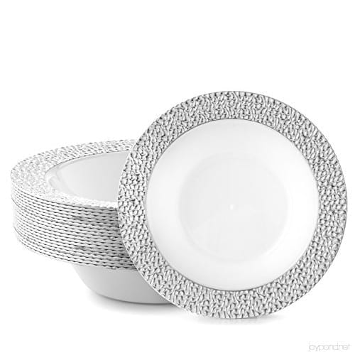 Silver-Touch Hammered Collection Bowl SILVER / WHITE 12OZ