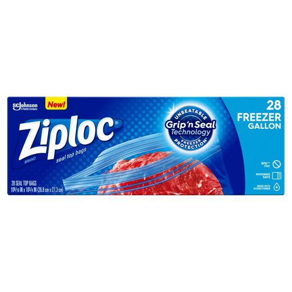 Sealpro Plastic Zip Seal Food Storage Bags Freezer CLEAR 2 GALLON 33 x 39.6CM