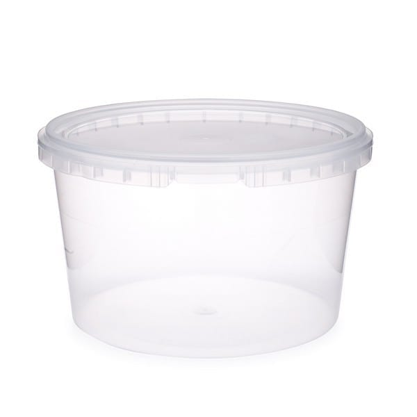 Plastic Container Packed Round Superior CLEAR 48 OZ