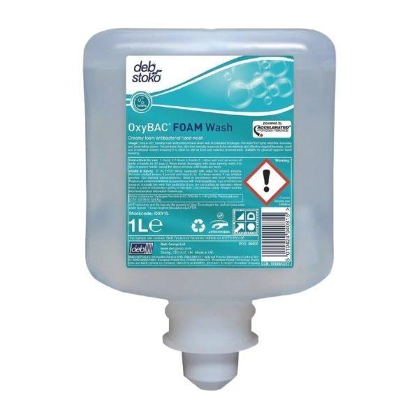 Deb Oxybac Foam Antibac Handwash 1ltr X 6