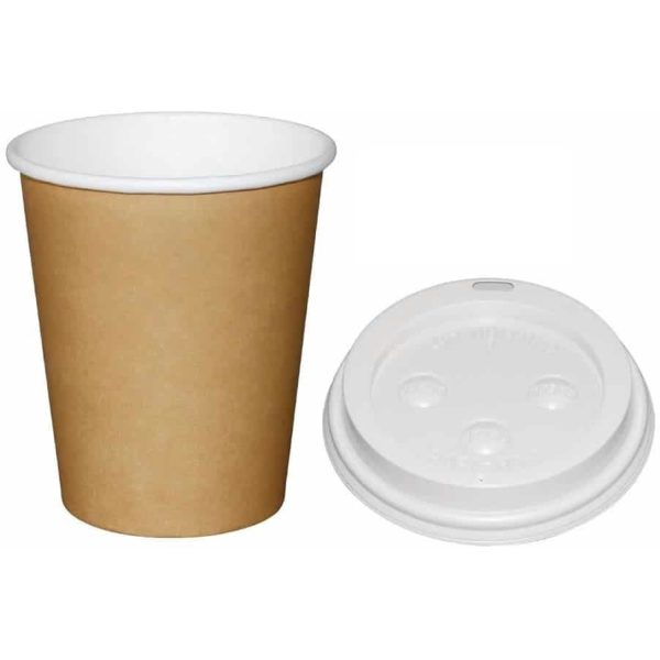 Super Value Hot Cups With Lids BLACK 12 OZ