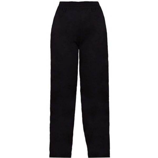 Half Elastic Chef Trousers BLACK Large