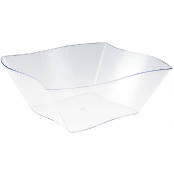 Mashers Mini Wave Dish CLEAR Plastic 50 X 12