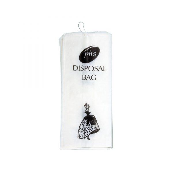 Crinoline Lady Sanitary Disposal Bags - Pack of 2000 WHITE 160x440x280MM