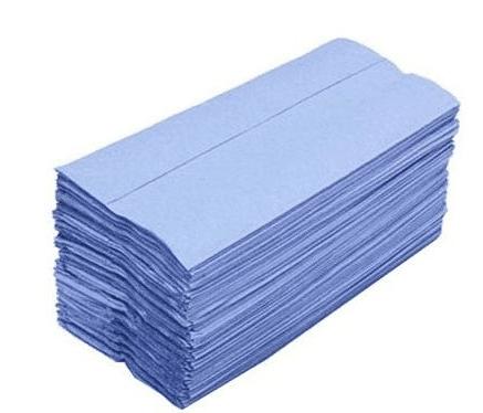 Nursery Hand Towel Blue 1ply Mini V/F 122x222mm 7200/unit