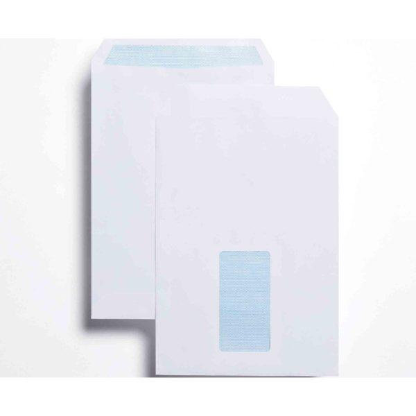 Blue label C5 Window envelopes WHITE 90gsm X 500