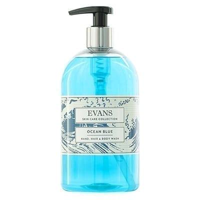 Evans Ocean BlueRevitalising Hand, Hair and Body Wash500ML X 6