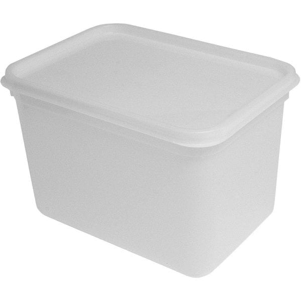 Rect Plastic Food Container with Lid 4 LTR