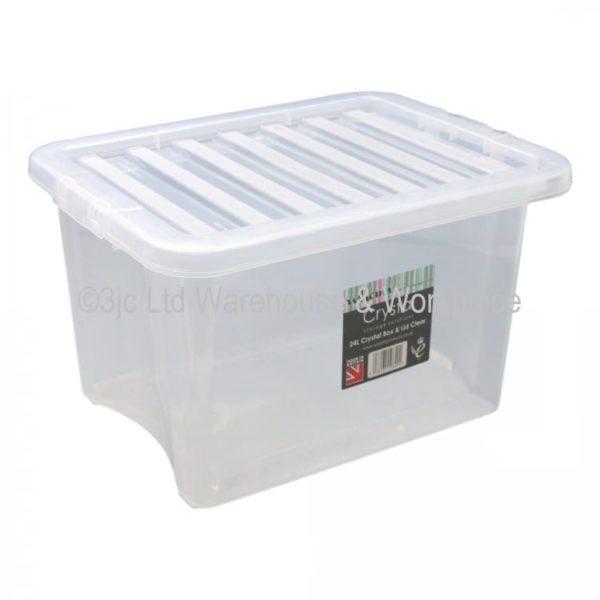 Crystal Box & Lid CLEAR 24 LTR