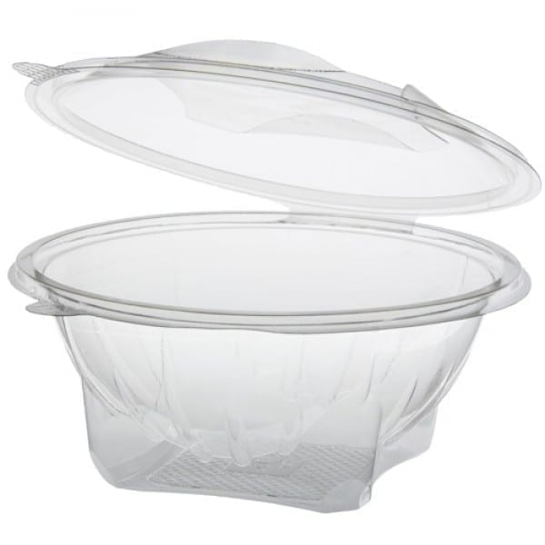 Salad Clear Round bowl 750cc 24oz + lid X 4