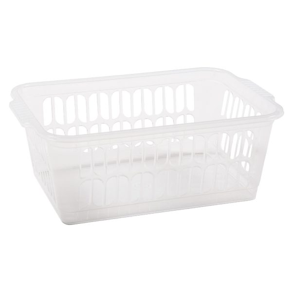 Single Medium Handy Basket Clear