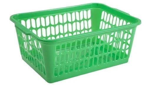 Work Place Single Handy basket GREEN Medium 29.5 x 19.5 x 10.5CM