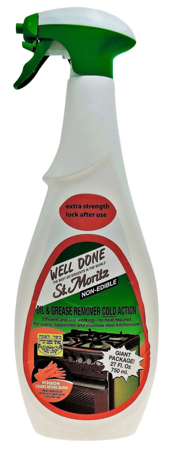 St. Moritz Well Done Oven Cleaner Grease and Oil Remover 750ML