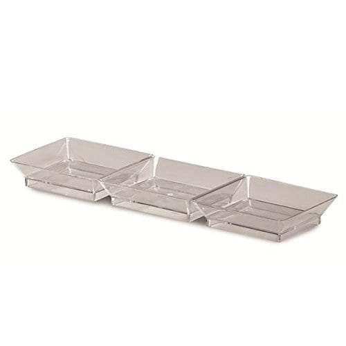 Small Wonders Dish 3-compartment CLEAR 7.5x2.5''