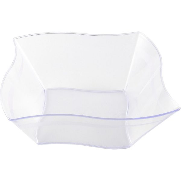 Mashers Elegant wave serving bowl Clear 7'' Clear X 50