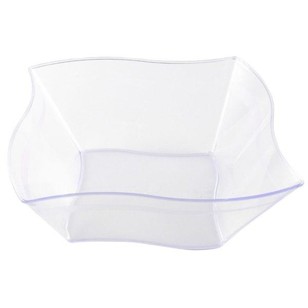 Mashers Elegant Wave Serving Bowl CLEAR 8.5'' X 50
