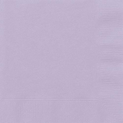 20 lavender lunch napkins