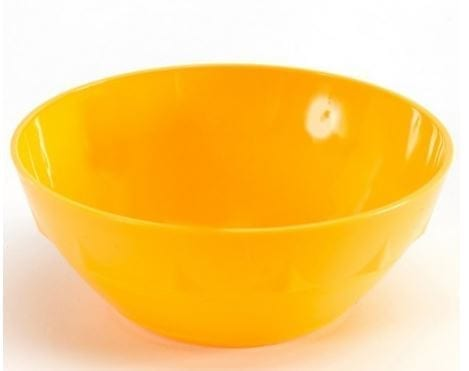 Harfield Polycarbonate Round Bowl 12cm Yellow
