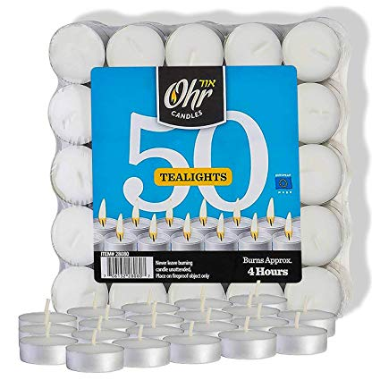 OHR Tea lights Plastic Wrapped 24