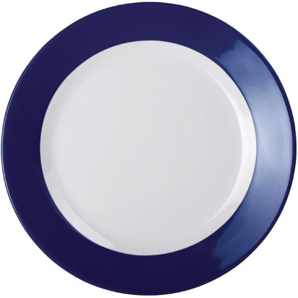 Kristallon Melamine Plate Blue Rim 195mm X 6